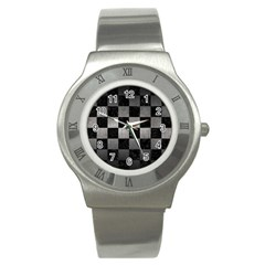 Square1 Black Marble & Gray Metal 1 Stainless Steel Watch