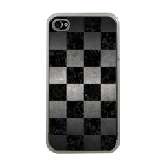 Square1 Black Marble & Gray Metal 1 Apple Iphone 4 Case (clear)