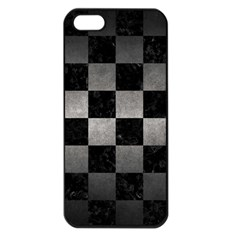 Square1 Black Marble & Gray Metal 1 Apple Iphone 5 Seamless Case (black)
