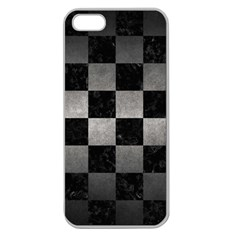 Square1 Black Marble & Gray Metal 1 Apple Seamless Iphone 5 Case (clear)