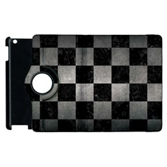 Square1 Black Marble & Gray Metal 1 Apple Ipad 3/4 Flip 360 Case