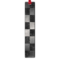 Square1 Black Marble & Gray Metal 1 Large Book Marks