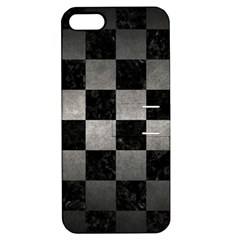 Square1 Black Marble & Gray Metal 1 Apple Iphone 5 Hardshell Case With Stand