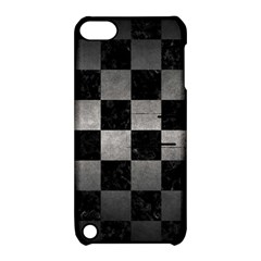 Square1 Black Marble & Gray Metal 1 Apple Ipod Touch 5 Hardshell Case With Stand