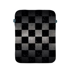 Square1 Black Marble & Gray Metal 1 Apple Ipad 2/3/4 Protective Soft Cases