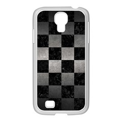 Square1 Black Marble & Gray Metal 1 Samsung Galaxy S4 I9500/ I9505 Case (white)