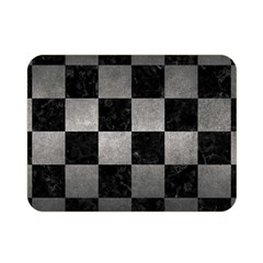 Square1 Black Marble & Gray Metal 1 Double Sided Flano Blanket (mini)