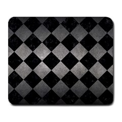 Square2 Black Marble & Gray Metal 1 Large Mousepads