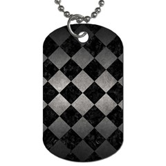 Square2 Black Marble & Gray Metal 1 Dog Tag (two Sides)