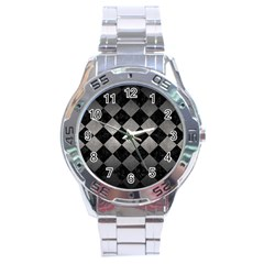 Square2 Black Marble & Gray Metal 1 Stainless Steel Analogue Watch