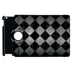 Square2 Black Marble & Gray Metal 1 Apple Ipad 2 Flip 360 Case