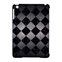 Square2 Black Marble & Gray Metal 1 Apple Ipad Mini Hardshell Case (compatible With Smart Cover)