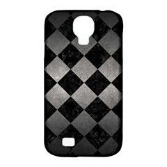 Square2 Black Marble & Gray Metal 1 Samsung Galaxy S4 Classic Hardshell Case (pc+silicone)