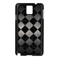 Square2 Black Marble & Gray Metal 1 Samsung Galaxy Note 3 N9005 Case (black)