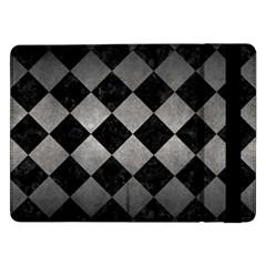 Square2 Black Marble & Gray Metal 1 Samsung Galaxy Tab Pro 12 2  Flip Case