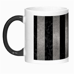 Stripes1 Black Marble & Gray Metal 1 Morph Mugs