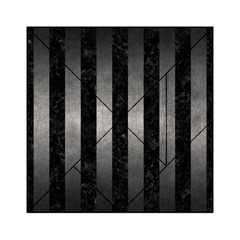 Stripes1 Black Marble & Gray Metal 1 Acrylic Tangram Puzzle (6  X 6 )