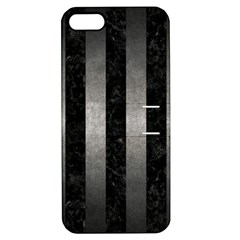 Stripes1 Black Marble & Gray Metal 1 Apple Iphone 5 Hardshell Case With Stand