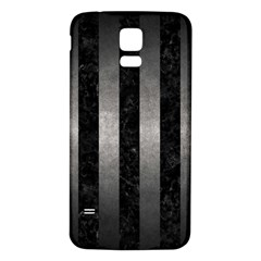 Stripes1 Black Marble & Gray Metal 1 Samsung Galaxy S5 Back Case (white)