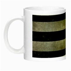 Stripes2 Black Marble & Gray Metal 1 Night Luminous Mugs