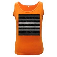 Stripes2 Black Marble & Gray Metal 1 Women s Dark Tank Top