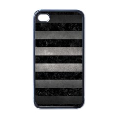 Stripes2 Black Marble & Gray Metal 1 Apple Iphone 4 Case (black)