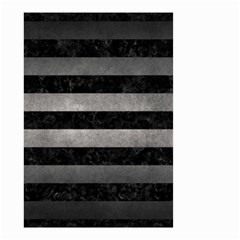 Stripes2 Black Marble & Gray Metal 1 Small Garden Flag (two Sides)