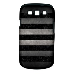 Stripes2 Black Marble & Gray Metal 1 Samsung Galaxy S Iii Classic Hardshell Case (pc+silicone)