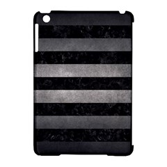 Stripes2 Black Marble & Gray Metal 1 Apple Ipad Mini Hardshell Case (compatible With Smart Cover)