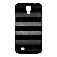 Stripes2 Black Marble & Gray Metal 1 Samsung Galaxy Mega 6 3  I9200 Hardshell Case