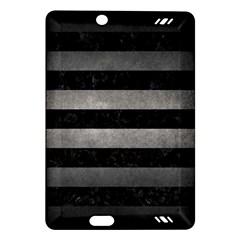 Stripes2 Black Marble & Gray Metal 1 Amazon Kindle Fire Hd (2013) Hardshell Case