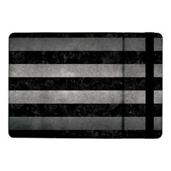 Stripes2 Black Marble & Gray Metal 1 Samsung Galaxy Tab Pro 10 1  Flip Case