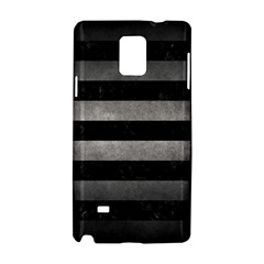 Stripes2 Black Marble & Gray Metal 1 Samsung Galaxy Note 4 Hardshell Case