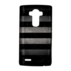 Stripes2 Black Marble & Gray Metal 1 Lg G4 Hardshell Case