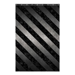Stripes3 Black Marble & Gray Metal 1 (r) Shower Curtain 48  X 72  (small)