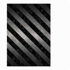 Stripes3 Black Marble & Gray Metal 1 (r) Small Garden Flag (two Sides)