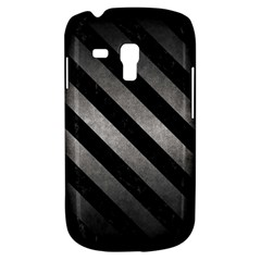 Stripes3 Black Marble & Gray Metal 1 (r) Galaxy S3 Mini