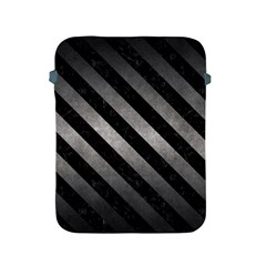 Stripes3 Black Marble & Gray Metal 1 (r) Apple Ipad 2/3/4 Protective Soft Cases