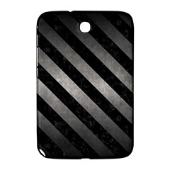 Stripes3 Black Marble & Gray Metal 1 (r) Samsung Galaxy Note 8 0 N5100 Hardshell Case