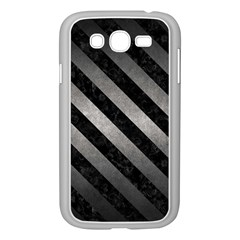 Stripes3 Black Marble & Gray Metal 1 (r) Samsung Galaxy Grand Duos I9082 Case (white)