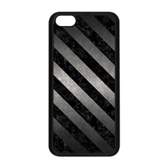 Stripes3 Black Marble & Gray Metal 1 (r) Apple Iphone 5c Seamless Case (black)
