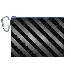 Stripes3 Black Marble & Gray Metal 1 (r) Canvas Cosmetic Bag (xl)