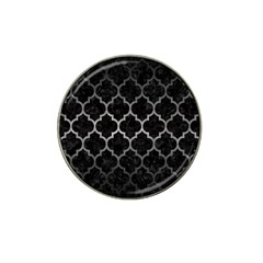 Tile1 Black Marble & Gray Metal 1 Hat Clip Ball Marker