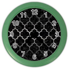 Tile1 Black Marble & Gray Metal 1 Color Wall Clocks
