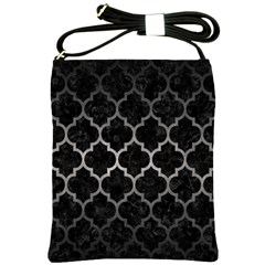 Tile1 Black Marble & Gray Metal 1 Shoulder Sling Bags
