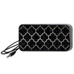 Tile1 Black Marble & Gray Metal 1 Portable Speaker