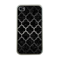 Tile1 Black Marble & Gray Metal 1 Apple Iphone 4 Case (clear)