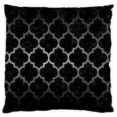 Tile1 Black Marble & Gray Metal 1 Large Cushion Case (two Sides)