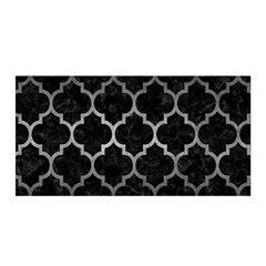 Tile1 Black Marble & Gray Metal 1 Satin Wrap
