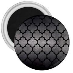 Tile1 Black Marble & Gray Metal 1 (r) 3  Magnets